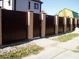 Забор профильный кирпичный декаративный