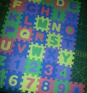 Пазлы. Буквы и цифры ангийские