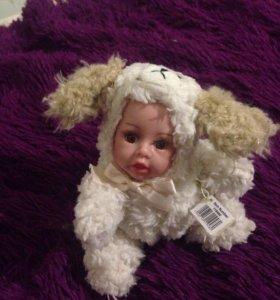 Кукла фарфоровая зверята