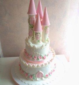 Торт на заказ  свадебные, юбилейные, детские.