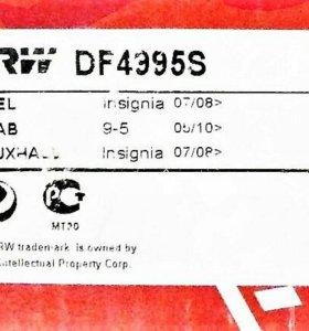 Insignia Saab 9-5 Malibu передний тормозной диск