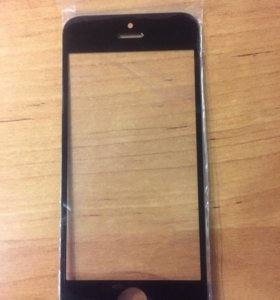 Стекло для iPhone 5/5s (black)