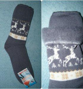 Теплые носки с начесом. Без резинки