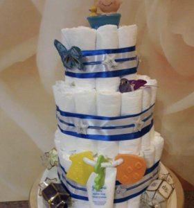 Торт из памперсов/подгузников