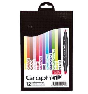 Маркеры Graph'it 12 цветов