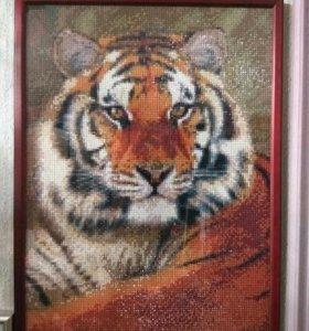 "Продам картину из страз "" Тигр"""