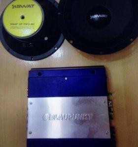 Усилитель BlaupunkT GTA-270 + акустика