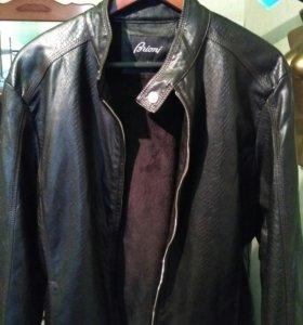 Куртка Brioni кожаная новая демисезонная