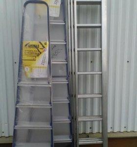 Стремянки, лестницы выдвижные.