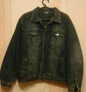 Куртка мужская джинсовая, утепленная