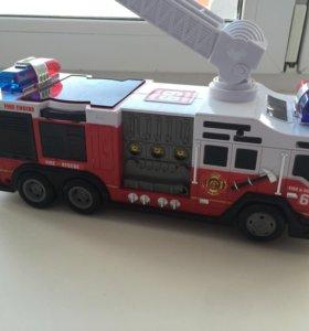 Пожарная машинка на батарейках со звуком