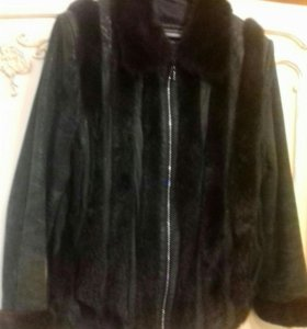 Шубка-куртка норка и замша