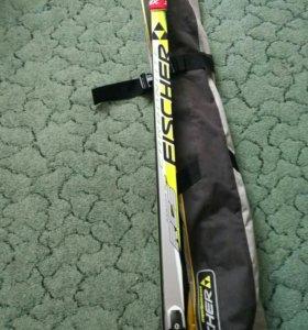Новые лыжи Fischer под конек с креплениями ННН