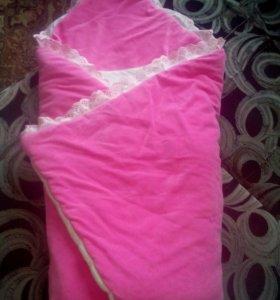 одеяло на выписку и для прогулок+подарок