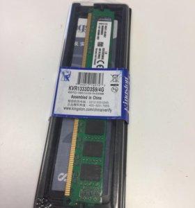 Оперативная память ddr 3 4gb 1333ghz kingston нова