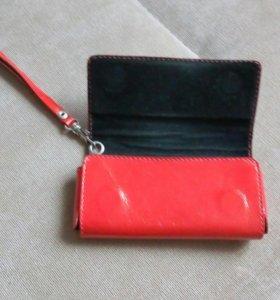 Кожаный чехол сумочка для телефона