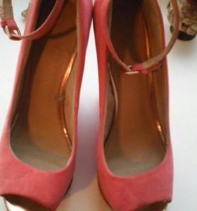 Туфли замша натуральные