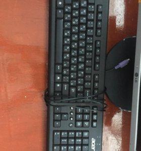 Клавиатура проводная и мышь
