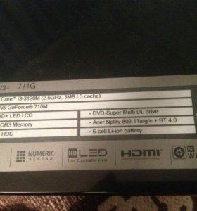 Ноутбук acer aspire v3 771 G