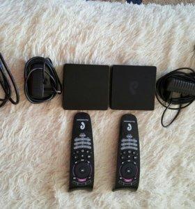 2 приставки для энтерактивного ТВ Ростелеком
