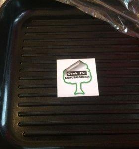 Квадратная сковорода - гриль с ручкой
