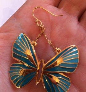 Серьги GUESS бабочки