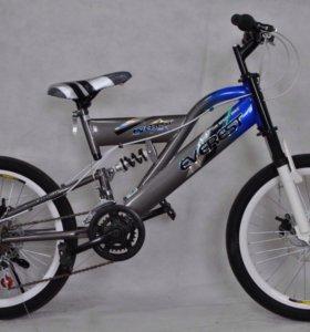 Велосипед кроссовый 10 скоростей. 20 радиус. Новые
