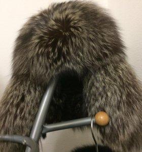 Шапка-ушанка из чернобурки