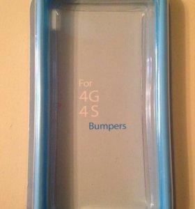 Чехол-бампер  для айфона(iPhone) 4,4s