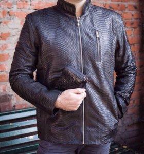 Куртка мужская из кожи питона