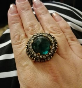 Кольцо серебро+розовое золото