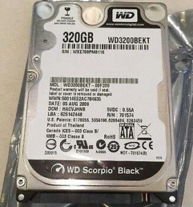 Жесткий диск Western Digital WD Scorpio Black 320