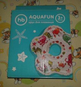 надувной круг на шею для купания happy baby