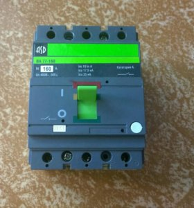 Выключатель автоматический ва77-160 ASD 160A новый