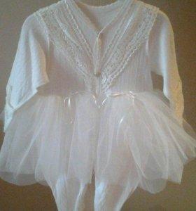 Красивое платье -боди для малышки