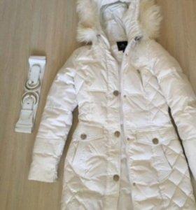 Пуховик куртка белая