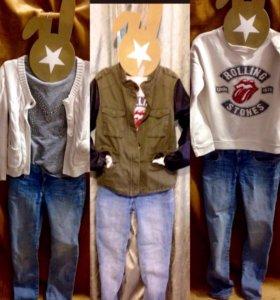Одежда для девочек 8-10 лет 134-140 рост 5 вещей .