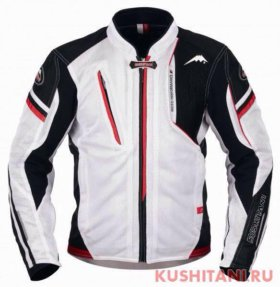 Летняя мотокуртка Kushitani Aventa. Бело-красная