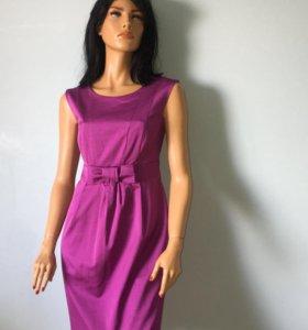 Фиолетовое платье с бантиком