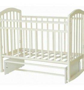 Кроватка-маятник Алита-3, белая, доставка