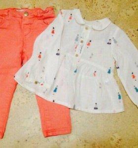 Джинсы и блуза Zara