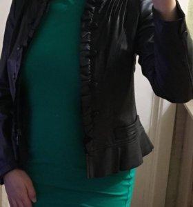 Пиджак натуральная кожа 44