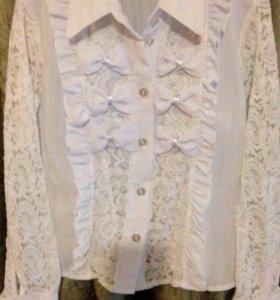 Блузка для девочек школьная рост 128