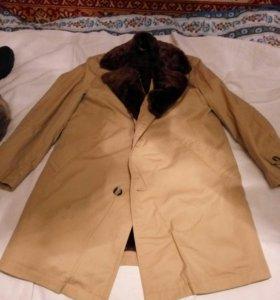 Пальто ,натуральная цигейка. Торг