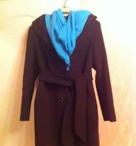 Пальто осеннее шерсть с кашемиром