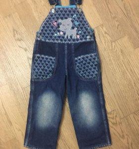 Комбинезон джинсовый р.92
