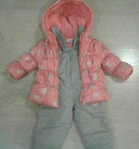 Куртка и Комбинезон на девочку от 74 до 86