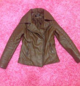 Куртка кожанка теплая concept club