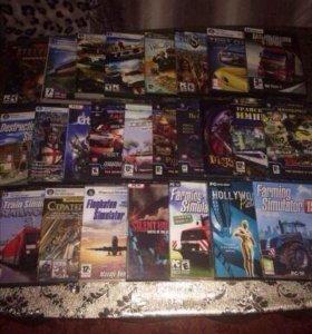 Компьютерные игровые диски (Цена за все 35шт)