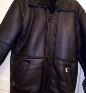 Куртка кожаная на меху, новая!!!